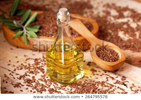 ブラウン · シード · 油 · ボウル · 健康 · 液体 - ストックフォト © tycoon