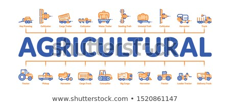 Agrícola veículos mínimo bandeira vetor Foto stock © pikepicture