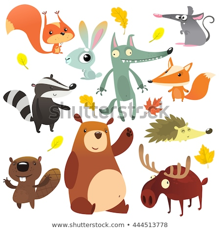 Wild moose elk isolated animal cartoon Stock photo © cienpies