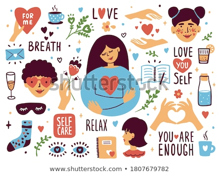 collection in heart shape with Doodle tea time elements.  Stock photo © Margolana