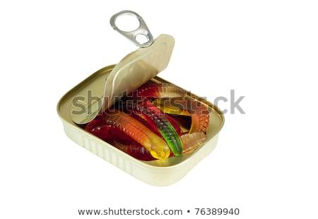 Opening kan afbeelding gezegde vissen witte Stockfoto © AlphaBaby