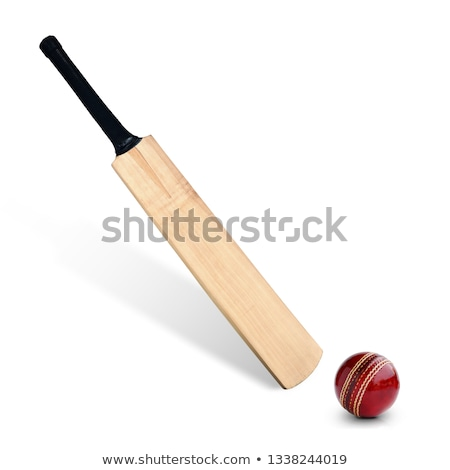 Cricket Bat And Ball On Wooden Background Stock photo © AndreyPopov