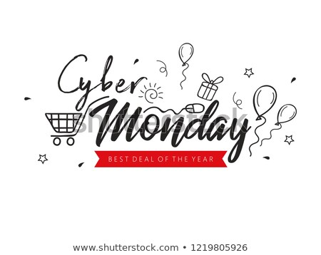 cyber monday best offer discount neon sign promo stock photo © robuart
