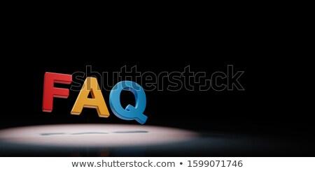 часто задаваемые вопросы красочный текста черный копия пространства 3d иллюстрации Сток-фото © make