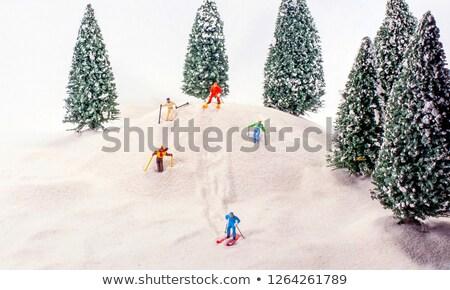 a miniature skier Stock photo © nito