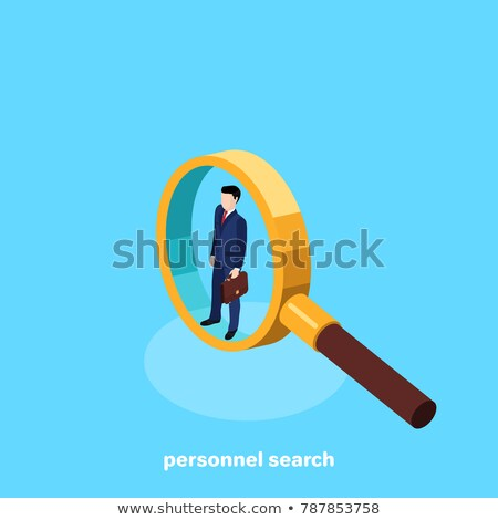 Analyzing Resume, Recruiting Concept Vector Image Stock photo © robuart