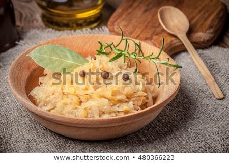 Geleneksel bezelye lahana gıda pişirme Noel Stok fotoğraf © joannawnuk