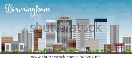 Birmingham Alabama linha do horizonte cinza edifícios blue sky Foto stock © ShustrikS
