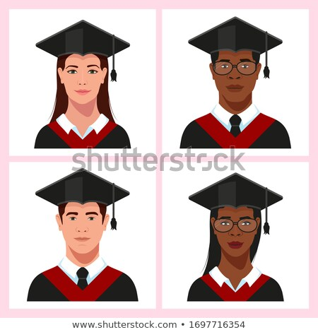 Male and Female Students Vector Isolated People Stock photo © robuart