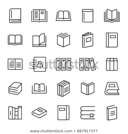 Audio książki ikona wektora ilustracja Zdjęcia stock © pikepicture