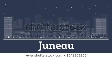 Alaska horizonte azul edificios ciudad Foto stock © ShustrikS