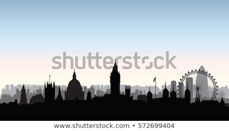 Outline London panorama with big ben and skyscrapers  Stock photo © ShustrikS