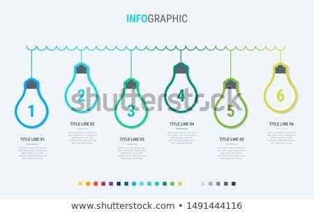 Villanykörték infografika sablon lehetőségek terv gyönyörű Stock fotó © ukasz_hampel
