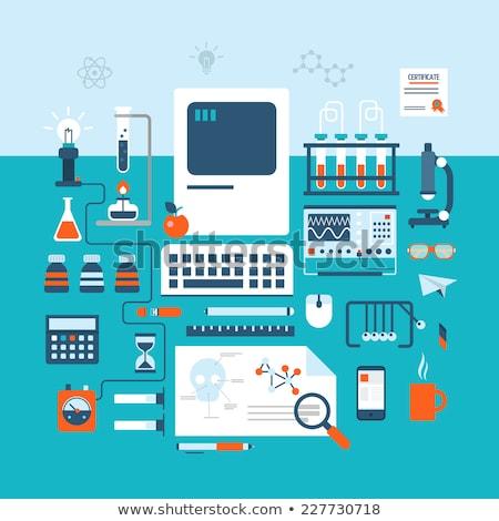 Biotechnologie medische technologie genetisch test Stockfoto © ra2studio