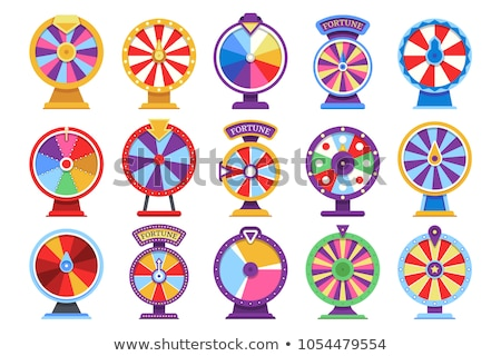 Playing Fortune Wheel, Spinning Roulette Vector Stock photo © robuart