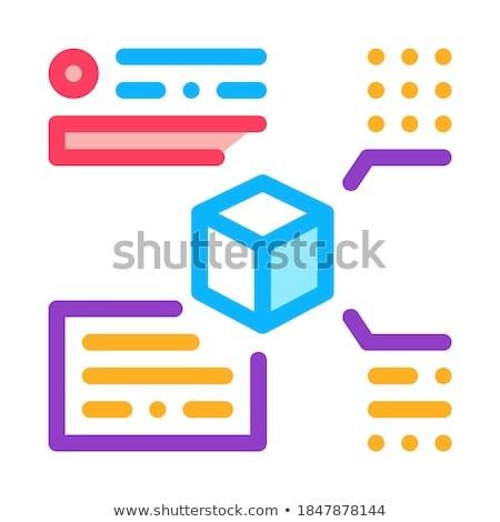 Maat icon vector schets illustratie Stockfoto © pikepicture