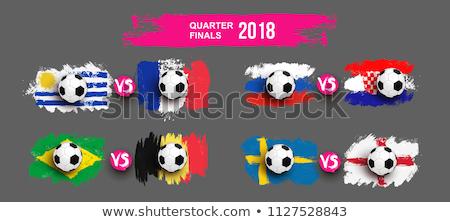 Suécia vs Croácia futebol combinar ilustração Foto stock © olira