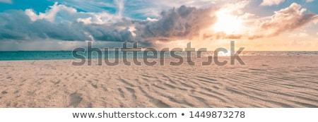 海景 太陽 ビーチ 日没 砂 ピンク ストックフォト © liolle