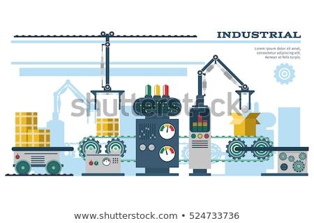 Macchina robotico meccanismo pack prodotti scatole Foto d'archivio © robuart
