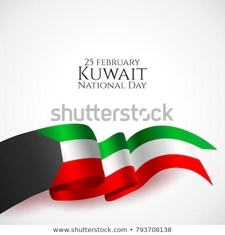Koeweit vlag witte abstract ontwerp teken Stockfoto © butenkow