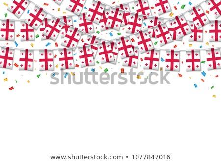 Georgia bandera blanco amor corazón fondo Foto stock © butenkow