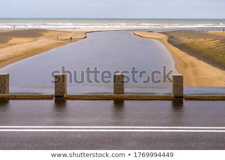 Deniz mavi gökyüzü Hollanda plaj bahar inşaat Stok fotoğraf © duoduo