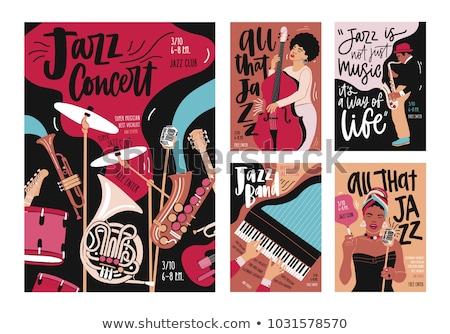 Müzik konser yaratıcı promo posterler ayarlamak Stok fotoğraf © pikepicture
