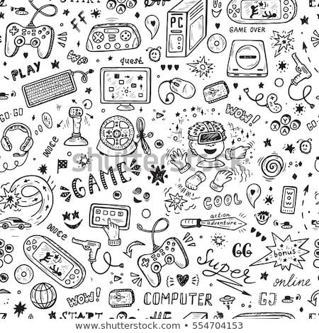 Strony rysunek skrót ftp biały kredy Zdjęcia stock © ra2studio