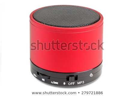 Red speaker on white Stock photo © magraphics