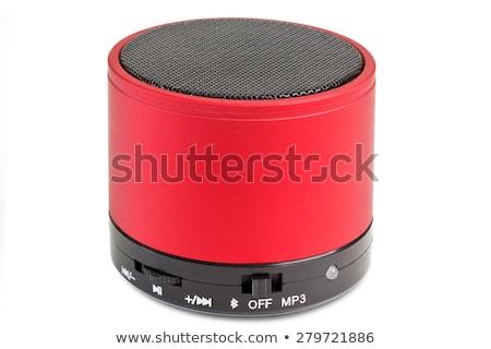 Rojo orador blanco aislado música sonido Foto stock © magraphics