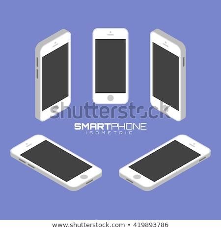 Komórkowej telefon symbol izometryczny ikona wektora Zdjęcia stock © pikepicture