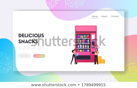 Assorted snack pack concept landing page. Stock photo © RAStudio