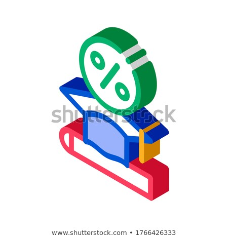 Lend Money To Pay For Tuition isometric icon vector illustration Stock photo © pikepicture