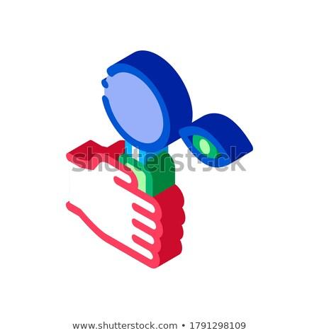 Menschlichen Auge optische Forschung Symbol Stock foto © pikepicture