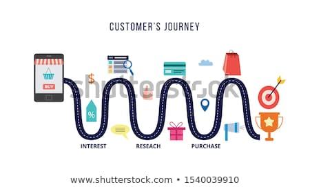 Online winkelen vector metafoor goederen online internet Stockfoto © RAStudio