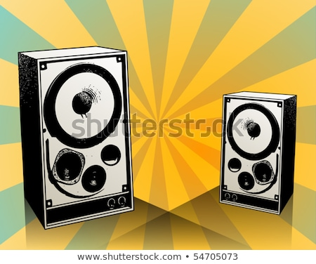 Abstract speaker silhouette colorato lettere testa Foto d'archivio © orson