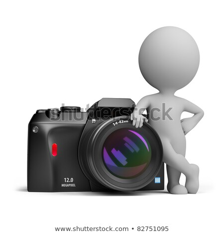 3d small people   digital camera foto stock © anatolym