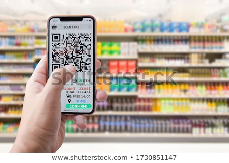 Phone scaned QR code Stock photo © m_pavlov