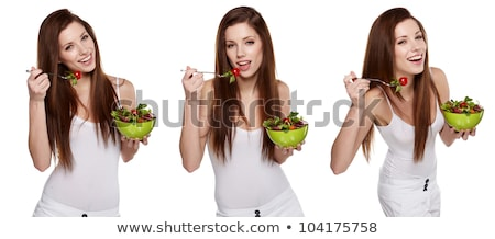 Stock photo: triple image of fashion model in different poses