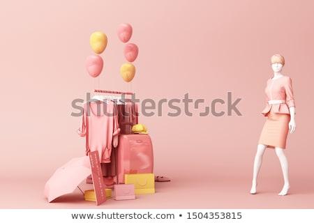 Femme mannequin chapeau visage magasin marché Photo stock © Paha_L