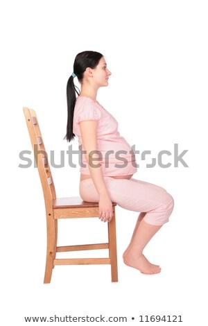 anlamaya · sandalye · oturma · kırmızı · adam · soyut - stok fotoğraf © paha_l