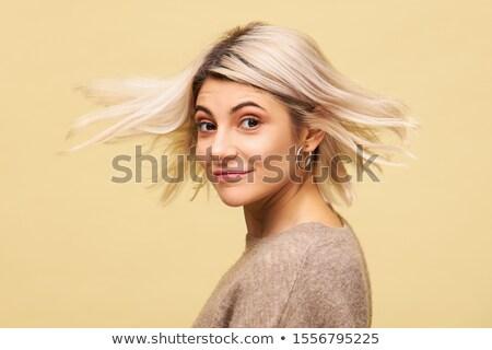 bella · donna · battenti · capelli · studio · ritratto - foto d'archivio © paha_l