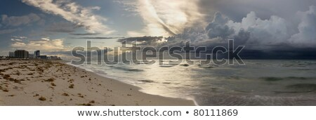 Foto stock: Tempestade · Miami · praia · panorama · grande
