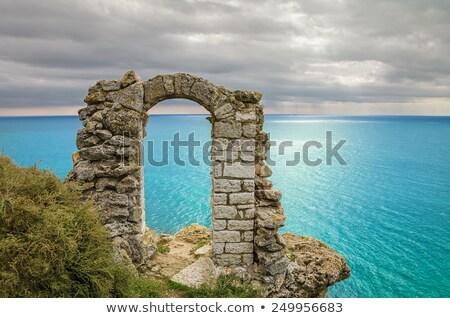 ruínas · arruinar · céu · árvores · montanha - foto stock © hofmeester