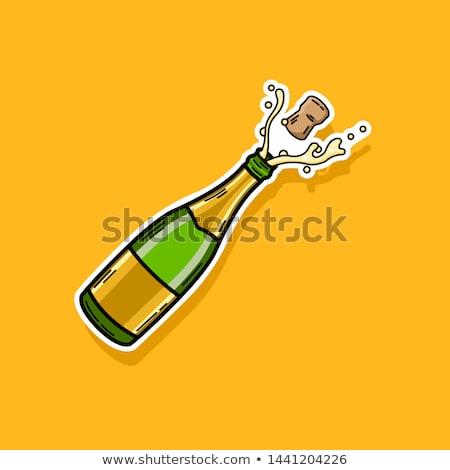 cartoon champagne bottle  Stock photo © Ghenadie
