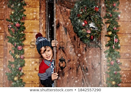 Dekore edilmiş ahşap kapı demir süsler Stok fotoğraf © borna_mir