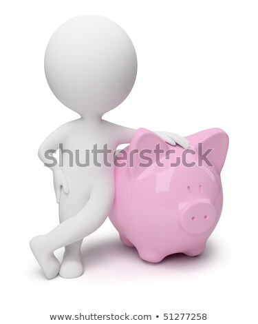 3d small people   money box stock photo © anatolym