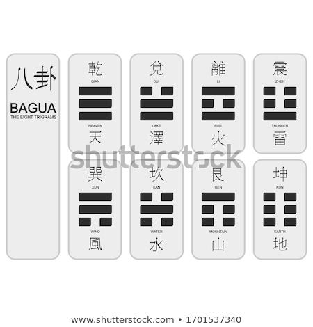 Sekiz diyagramları cennet kullanılmış feng shui Stok fotoğraf © sahua