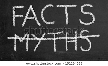 Crossing out Lies and writing Truth on a blackboard. Stock photo © latent