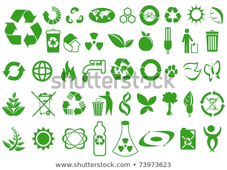 abstract glossy trash icon Stock photo © pathakdesigner